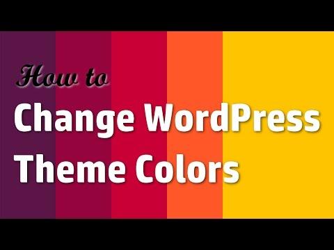 How to Change WordPress Theme Colors