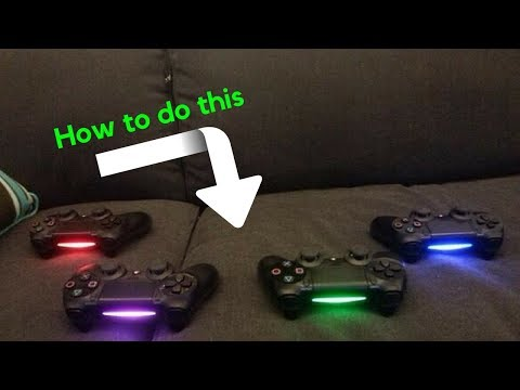 How to change the lightbar color on your ps4 controller