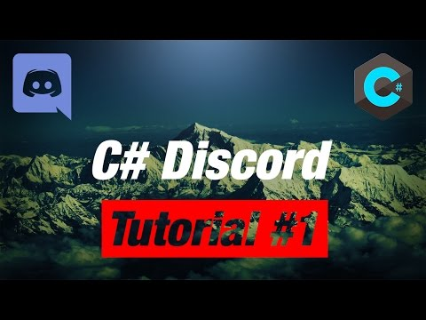 Make your OWN C# Discord Bot: #1 Getting Started 0.9