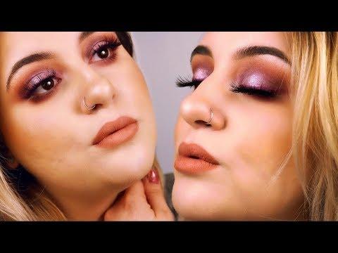 Bombshell Eyes + Purple Eyeliner| Ashley Chadwick