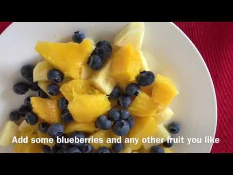 Yummy mojito fruit salad