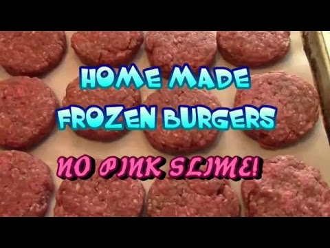 Home Made Frozen Burgers For The Summer!