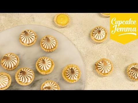 How to Make MINI LEMON MERINGUE PIES! | Cupcake Jemma