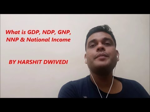 What is GDP, NDP, GNP, NNP & National Income ?