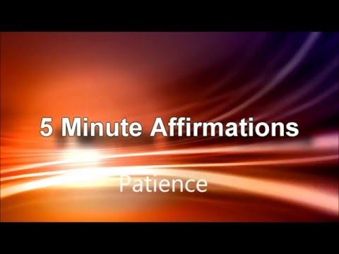 Affirmations Patience - Law of Attraction - Self Hypnosis