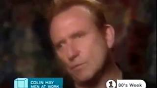 1983 and 2001 Colin Hay of Men At Work clips