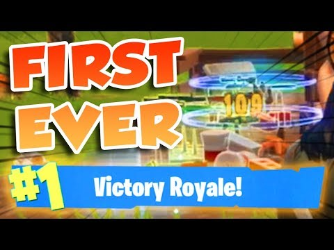 *FIRST* WIN EVER (FORTNITE BATTLE ROYALE)