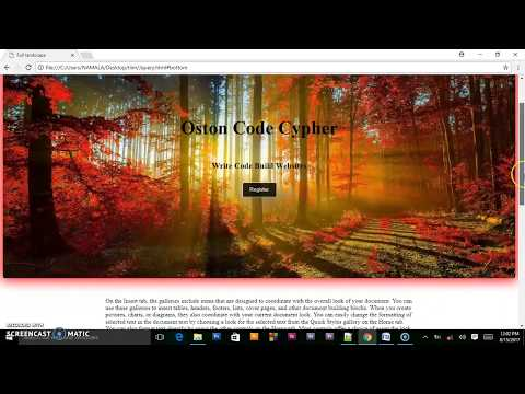 How To Create A Full Screen Landing Page Using HTML5 & CSS FLEXBOX