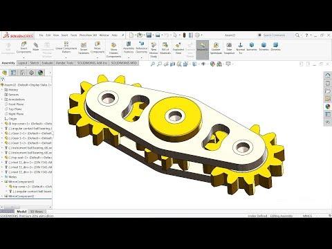 SolidWorks tutorial | Gear Fidget Spinner in Solidworks
