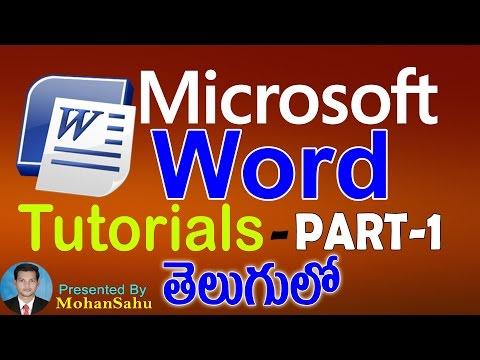 Ms Word Tutorials in Telugu Part - 1 || LEARN COMPUTER TELUGU VIDEOS