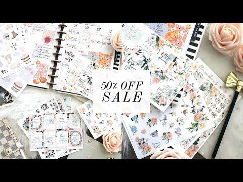 50% OFF EVERYTHING - PLANNER STICKERS SALE! | Love, Charmaine Stickers
