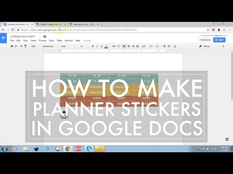 How to Make Planner Stickers // Easy Sticker Making with Google Docs - 516vlogs