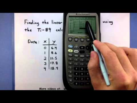 Pre-Calculus - Find the linear regression line using the TI-89 calculator