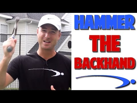 How to HAMMER Your Tennis Backhand w/ Wrist Leverage (Top Speed Tennis)