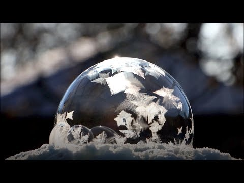 Magical footage of bubble freezing at -35C