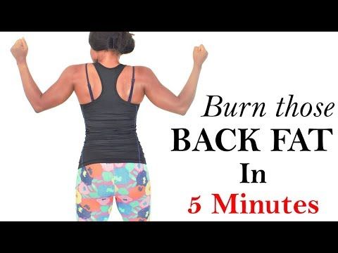 BURN back fat fast(intense 5 MIN workouts for back fat) best exercises that get rid of back fat fast