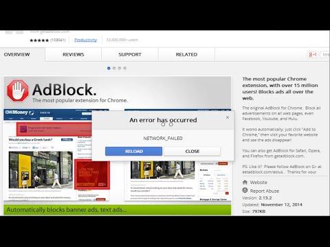 NETWORK_FAILED Chrome Web Store Fix