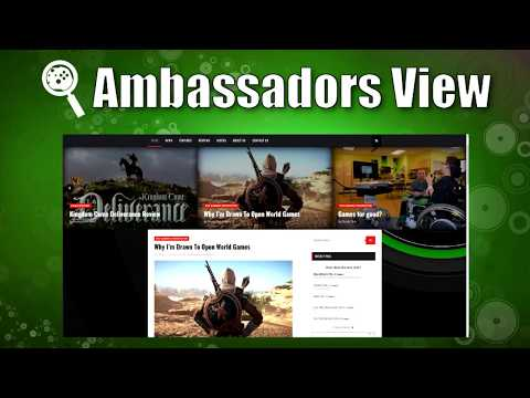 New Xbox News and Review site: Ambassadors View