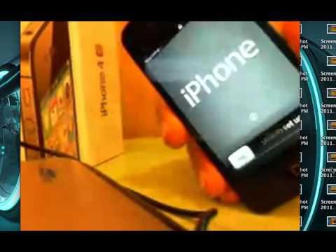 iPhone4s unBoxing via Skype