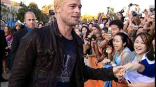 Brad Pitt On Mr. & Mrs. Smith Red Carpet With Crazy Fans!