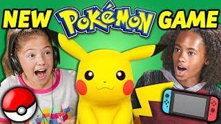KIDS REACT TO NEW POKÉMON GAME! (Let