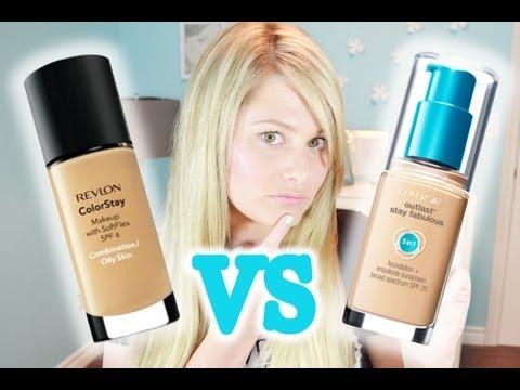 Oily Skin? CoverGirl 3 in 1 VS Revlon Colourstay Foundation!