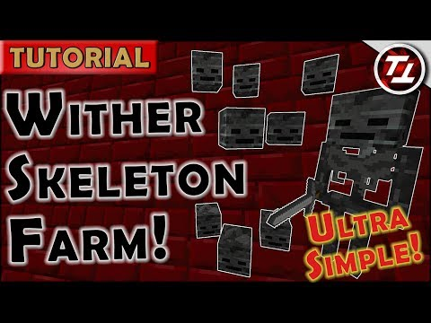 Wither Skeleton Farm! Ultra-Simple, Cheap & Effective!