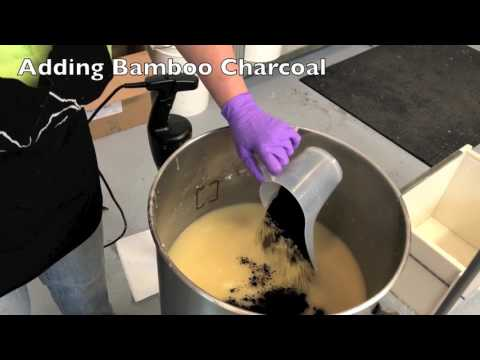 The Soap Shop - Making Charcoal Soap