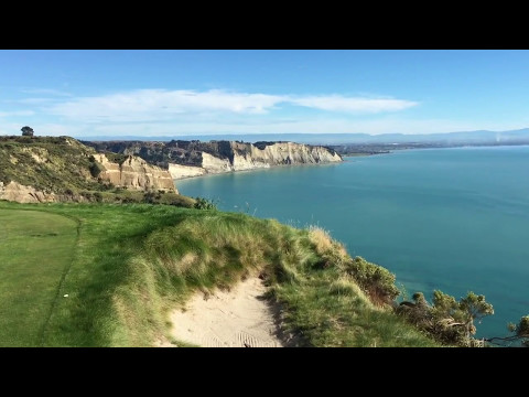 Playing Cape Kidnappers Golf Course in New Zealand.  Wow!