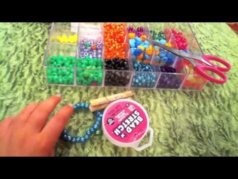 How to make a kandi/pony bead multi cuff