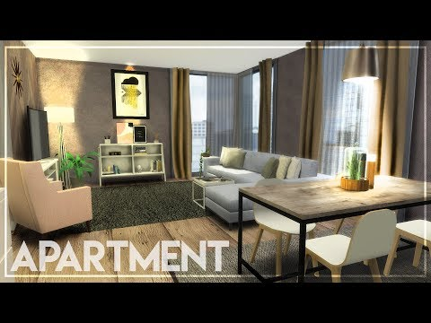 1-BEDROOM APARTMENT + TOUR + CC LINKS : The Sims 4 Speed Build Apartment