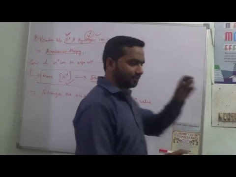 Reation Between pH & Hydrogen ion Concentration | Chemistry Tutorials