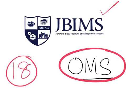 JBIMS for OMS All India students. Process Cutoffs Seats explained