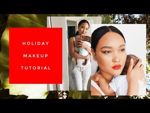 A NON-CAKED UP HOLIDAY MAKEUP TUTORIAL