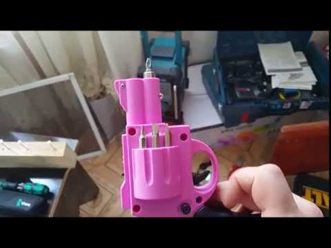 Pink Gun Shape Revolver screwdriver / drill \ gun drill \ gun power \ Cordless Screwdriver