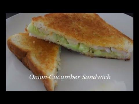 Onion-Cucumber Sandwich | Healthy Breakfast Sandwich | Quick and Easy Breakfast Recipes