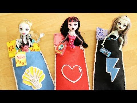 Make a no-sew DOLL SLEEPING BAG AND PILLOW - Dollhouse DIY - Easy Doll Crafts - simplekidscrafts