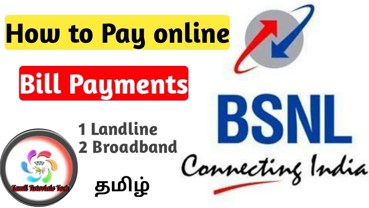 BSNL Bill Payment online Tamil |Landline| Broadband| NEW |Tamil Tutorials Tech – தமிழ்