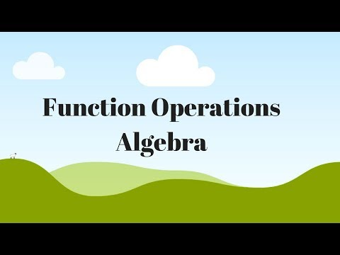 Function Operations Algebra 1 and 2