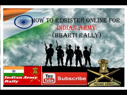 HOW TO REGISTER ONLINE FOR INDIAN ARMY (Bharti Rally)