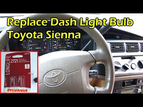 How To Replace Instrument Dash Light Bulb - Toyota Sienna