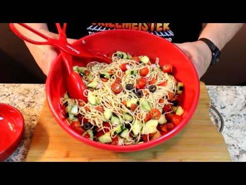 Italian Spaghetti Pasta Salad!  (Delicious Chilled)
