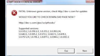 GTA 5 - Script Hook V Critical Error FIX - TRAINER WORKS!! - The