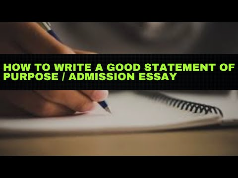 How to write statement of purpose part 3
