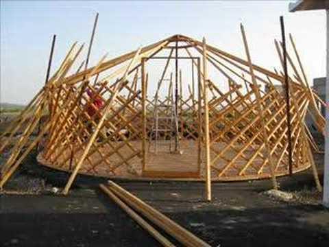 Genghis khan - Mongolian tent building process