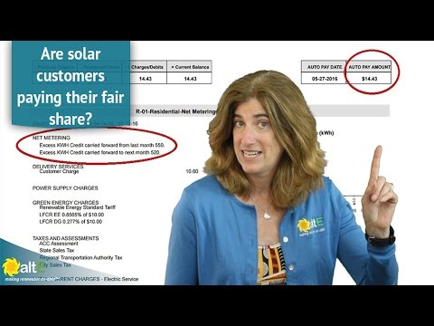 Solar Power Myth: Solar customers are not paying their share