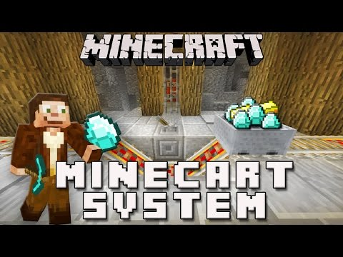 Minecraft: Minecart Station System For A Diamond Mine   (Scarland Survival Base Ep.10)