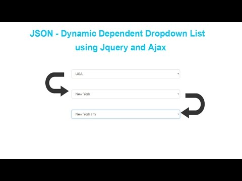 JSON - Dynamic Dependent Dropdown List using Jquery and Ajax