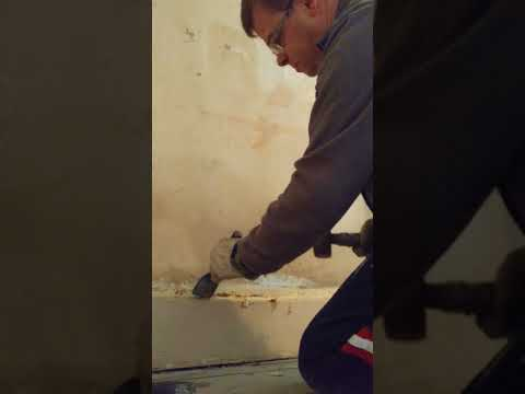 How to remove concrete skirting board - part 1