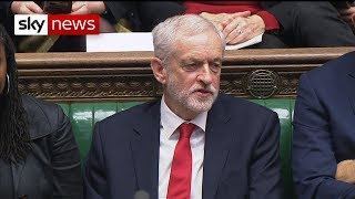 """Watch: Jeremy Corbyn appears to call the PM a """"stupid woman"""""""